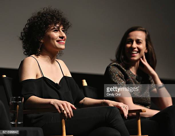 Actress/ writer Ilana Glazer and director Lucia Aniello speak on stage at Tribeca Tune In Time Traveling Bong during the 2016 Tribeca Film Festival...