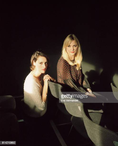 Actress writer playwright and director Phoebe WallerBridge is photographed with writer Vicky Jones for the Financial Times on December 1 2016 in...