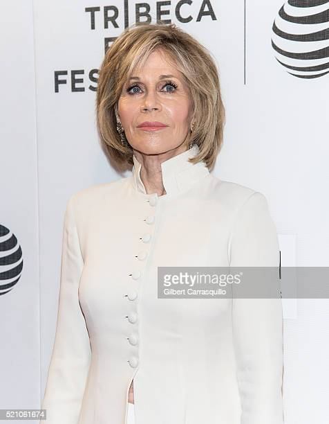 Actress writer political activist former fashion model and fitness guru Jane Fonda attends 'The First Monday In May' World Premiere during Opening...
