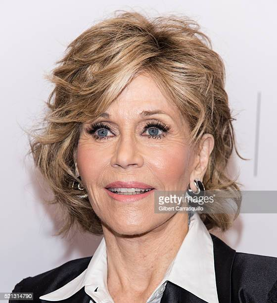 Actress writer political activist former fashion model and fitness guru Jane Fonda attends Tribeca Tune In 'Grace and Frankie' during 2016 Tribeca...