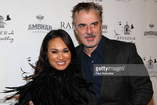 Actress / Writer Tara L Wilson North and Actor Chris Noth attend the media night preview of BROKEN Code BIRD Switching at S Feury Theater on November...