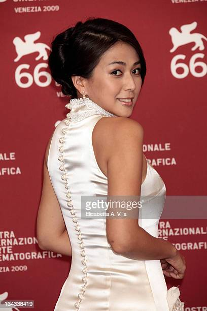 Actress Wu Anya attends the 'Chengdu I Love You' photocall at the Palazzo del Casino during the 66th Venice Film Festival on September 12 2009 in...