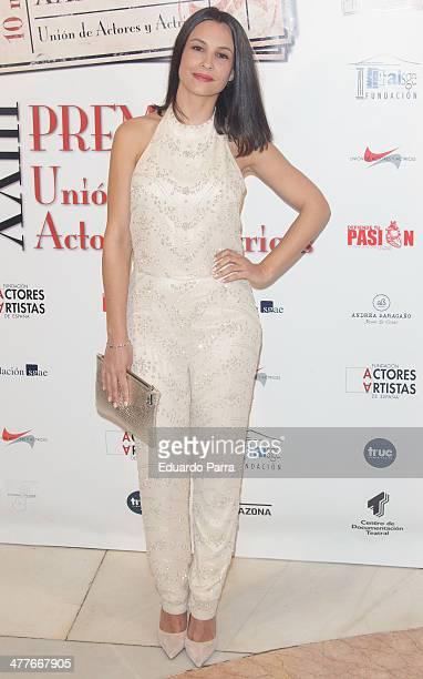 Actress Xenia Tostado attends 'Union de actores' awards 2014 photocall at Coliseum theatre on March 10 2014 in Madrid Spain