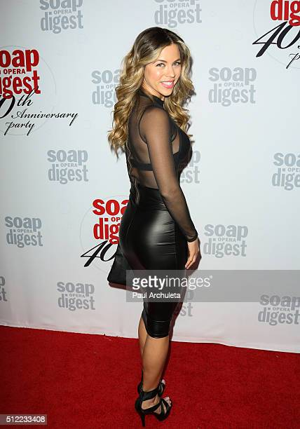 Actress Ximena Duque attends Soap Opera Digest's 40th Anniversary celebration at The Argyle on February 24 2016 in Hollywood California
