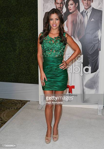Actress Ximena Duque attends the Telemundo press annoucement for 'Santa Diabla' at the Regent Beverly Wilshire Hotel on August 5 2013 in Beverly...