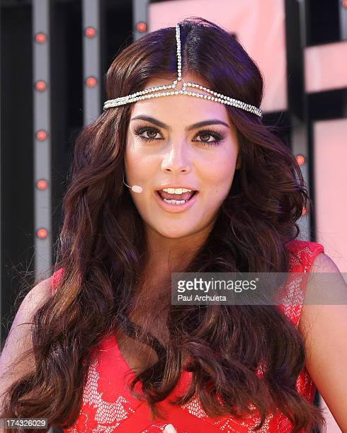 Actress Ximena Navarrete attends the premiere of Univision's new Telenovela 'La Tempestad' at Universal CityWalk on July 23 2013 in Universal City...