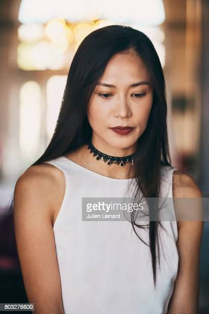 Actress Xin Wang is photographed for Self Assignment on June 16 2017 in Cabourg France