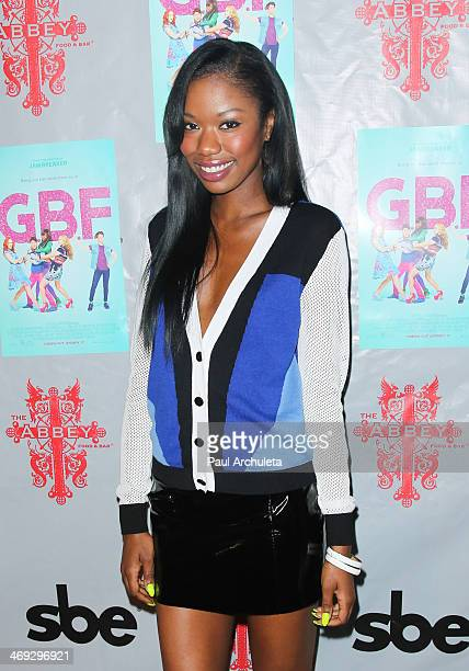 Actress Xosha Roquemore attends the DVD release party for 'GBF' at The Abbey on February 13 2014 in West Hollywood California