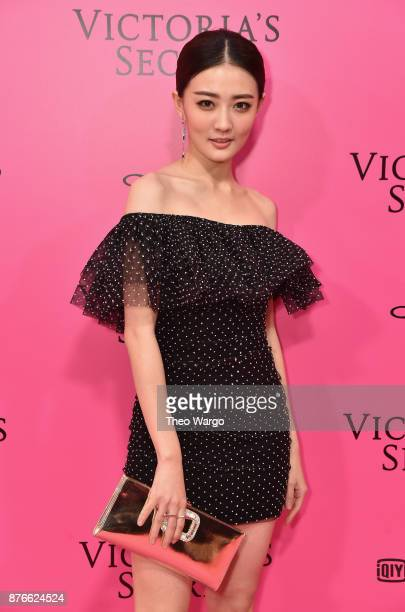 Actress Xu Lu attends the 2017 Victoria's Secret Fashion Show In Shanghai Pink Carpet Arrivals at MercedesBenz Arena on November 20 2017 in Shanghai...
