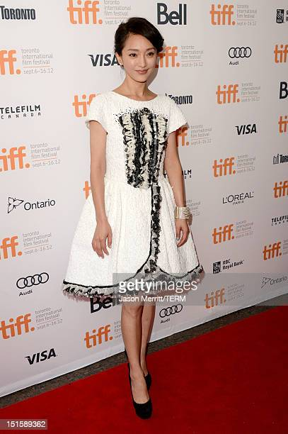 Actress Xun Zhou attends the 'Cloud Atlas' premiere during the 2012 Toronto International Film Festival at the Princess of Wales Theatre on September...