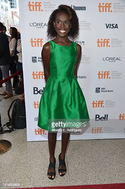 Actress Xzannjah Matsi attends the Mr Pip premiere during the 2012 Toronto International Film Festival at Winter Garden Theatre on September 9 2012...