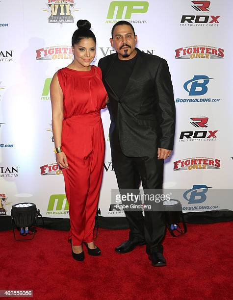 Actress Yadi Valerio and her husband actor Emilio Rivera arrive at the seventh annual Fighters Only World Mixed Martial Arts Awards at The Palazzo...