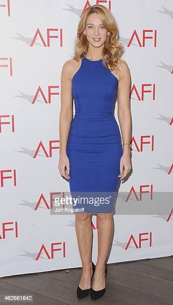 Actress Yael Grobglas arrives at the 15th Annual AFI Awards at Four Seasons Hotel Los Angeles at Beverly Hills on January 9 2015 in Beverly Hills...