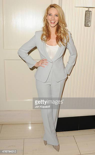 Actress Yael Grobglas arrives at TheWrap's 2nd Annual Emmy Party at The London on June 11 2015 in West Hollywood California