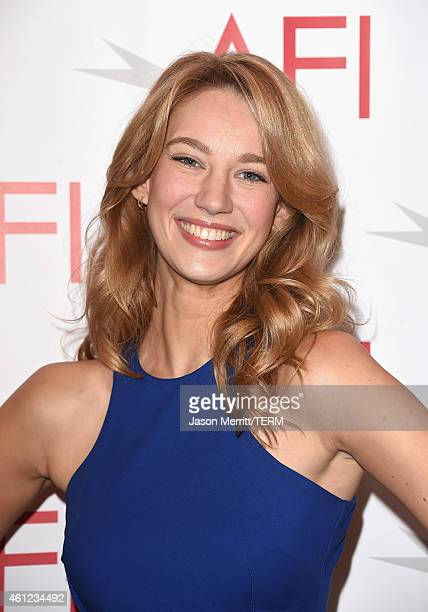 Actress Yael Grobglas attends the 15th Annual AFI Awards at Four Seasons Hotel Los Angeles at Beverly Hills on January 9 2015 in Beverly Hills...