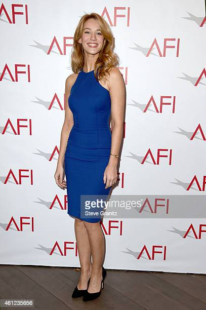Actress Yael Grobglas attends the 15th Annual AFI Awards at Four Seasons Hotel Los Angeles at Beverly Hills on January 9, 2015 in Beverly Hills,...