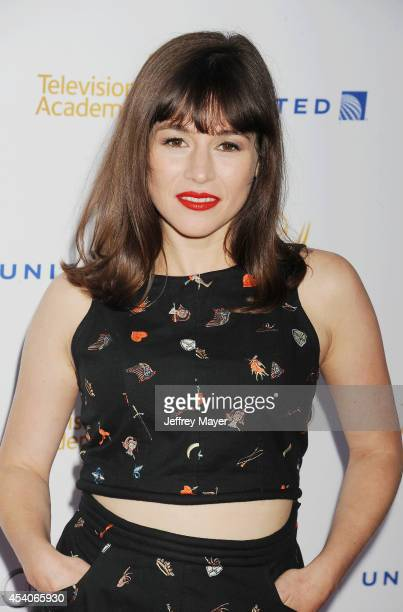 Actress Yael Stone arrives at the Television Academy's 66th Emmy Awards Performance Nominee Reception at the Pacific Design Center on Saturday Aug 23...