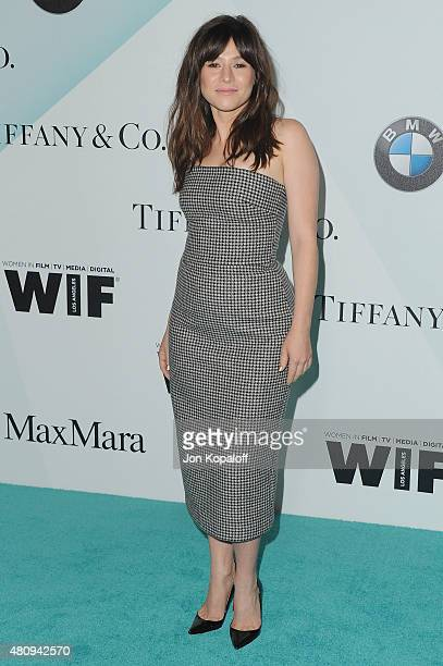 Actress Yael Stone arrives at Women In Film 2015 Crystal Lucy Awards at the Hyatt Regency Century Plaza on June 16 2015 in Los Angeles California