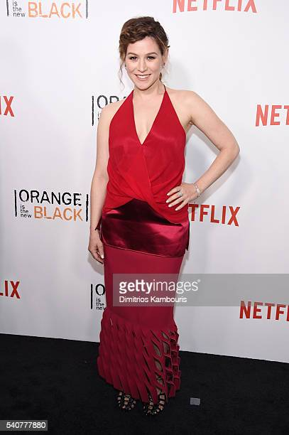 Actress Yael Stone attends 'Orange Is The New Black' premiere at SVA Theater on June 16 2016 in New York City