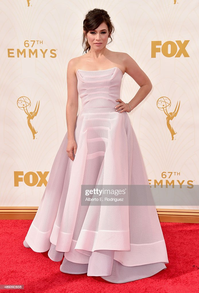 Actress Yael Stone attends the 67th Emmy Awards at Microsoft Theater on September 20, 2015 in Los Angeles, California. 25720_001