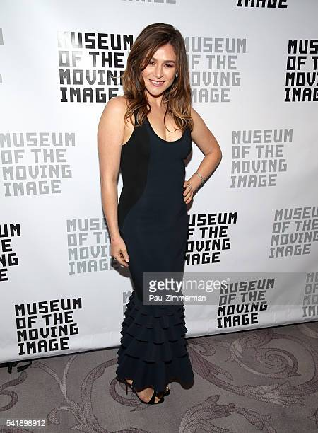 Actress Yael Stone attends the Museum Of The Moving Image Honors Netflix Chief Content Officer Ted Sarandos And Seth Meyers at St Regis Hotel on June...