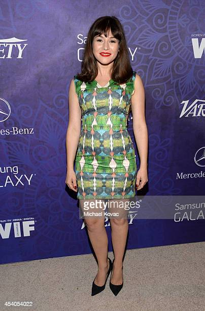 Actress Yael Stone attends Variety and Women in Film Emmy Nominee Celebration powered by Samsung Galaxy on August 23 2014 in West Hollywood California
