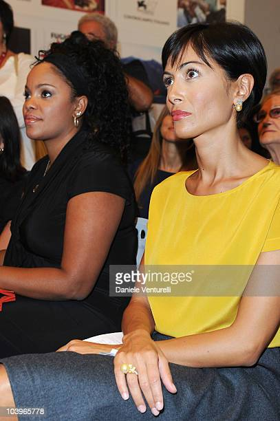 Actress Yahima Torres and Mara Carfagna attend the Equal Opportunity Award Ceremony at the Hotel Exclesior during the 67th Venice International Film...