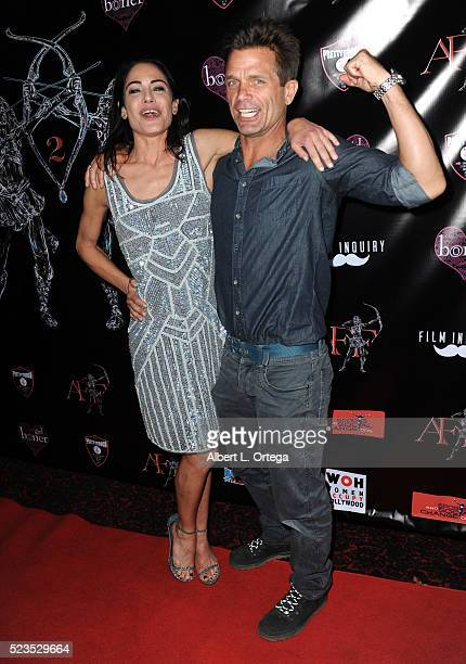 Actress Yancy Butler and actor David Chokachi at the 2nd Annual Artemis Film Festival Red Carpet Opening Night/Awards Presentation held at Ahrya Fine...