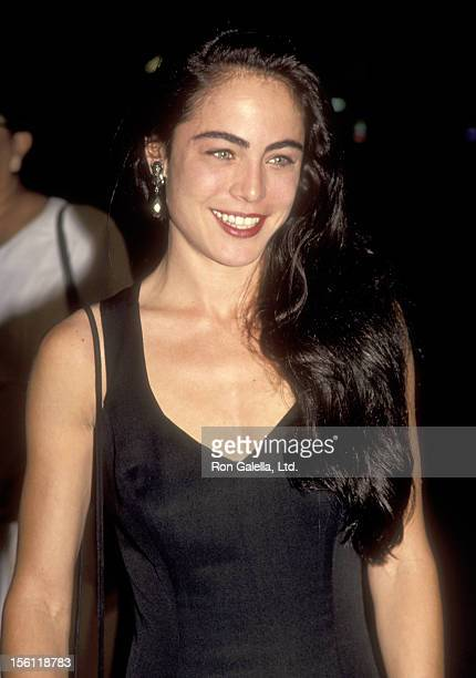 Actress Yancy Butler attends the 'Hard Target' Beverly Hills Premiere on August 18 1993 at Academy Theatre in Beverly Hills California