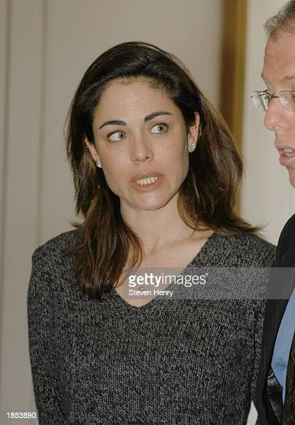 Actress Yancy Butler leaves the Suffolk County Court House March 17 2003 in Central Islip New York Butler was appearing at her sentencing stemming...