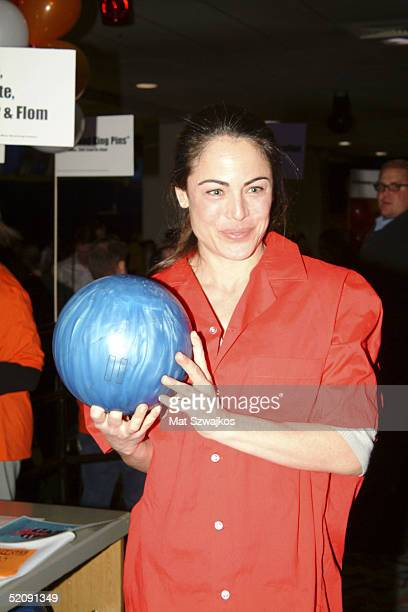 Actress Yancy Butler participates at the 18th Annual Second Stage AllStar Bowling Classic at Leisure Time Bowling Lanes Port Authority January 31...