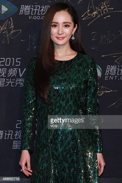 Actress Yang Mi attends 2015 Star Awards Ceremony Of Tencent on November 25 2014 in Beijing China