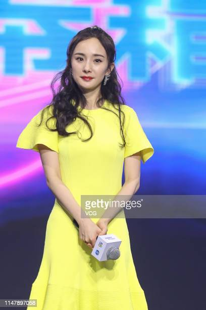 Actress Yang Mi attends 58com activity on May 8 2019 in Beijing China