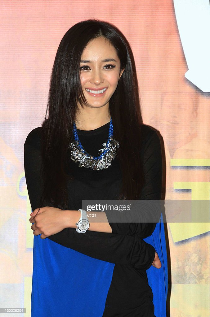 Actress Yang Mi attends a charity event at General Administration of Sport of China on October 25, 2011 in Beijing, China.