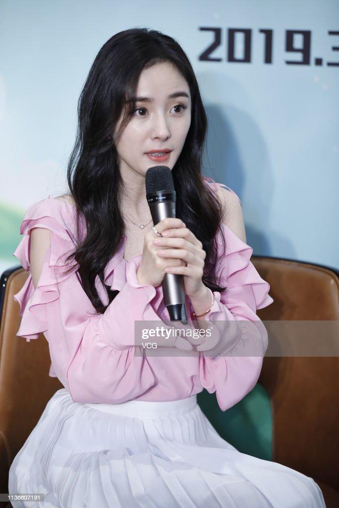 CHN: Yang Mi Attends Food Brand Activity In Chengdu