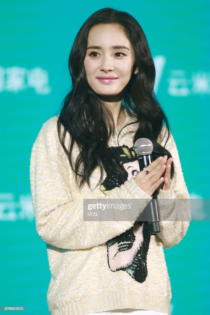 Yang Mi Attends Promotional Event In Shanghai