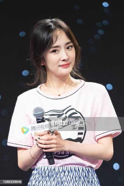 Actress Yang Mi attends a Tencent Video activity on November 9 2018 in Beijing China