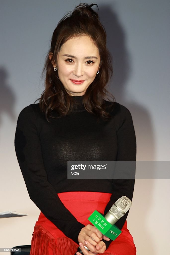 Actress Yang Mi attends an endorsement event of Oppo on December 19, 2016 in Shanghai, China.