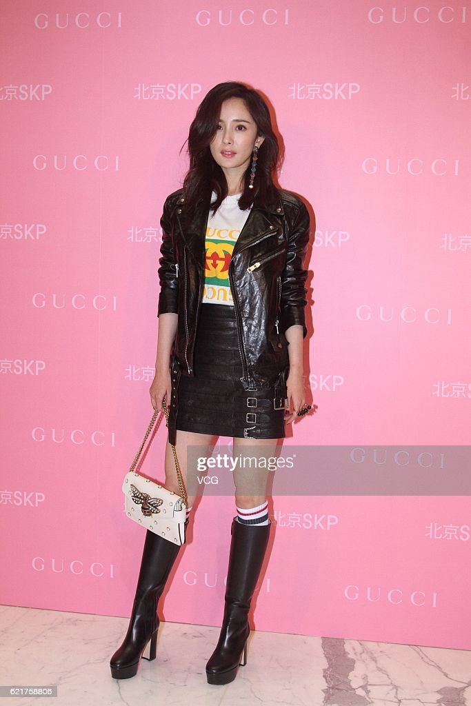 Actress Yang Mi attends an opening ceremony of Shin Kong Place flagship store of Gucci on November 8, 2016 in Beijing, China.