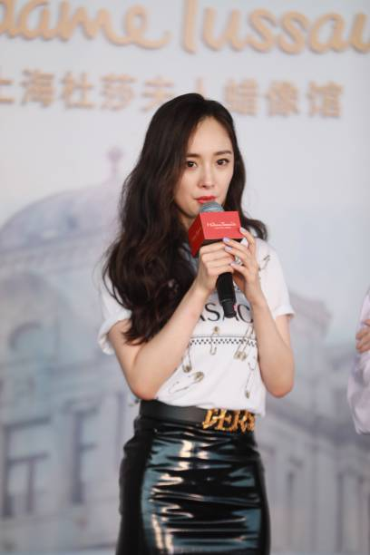 CHN: Yang Mi Unveils Her Wax Figure In Shanghai