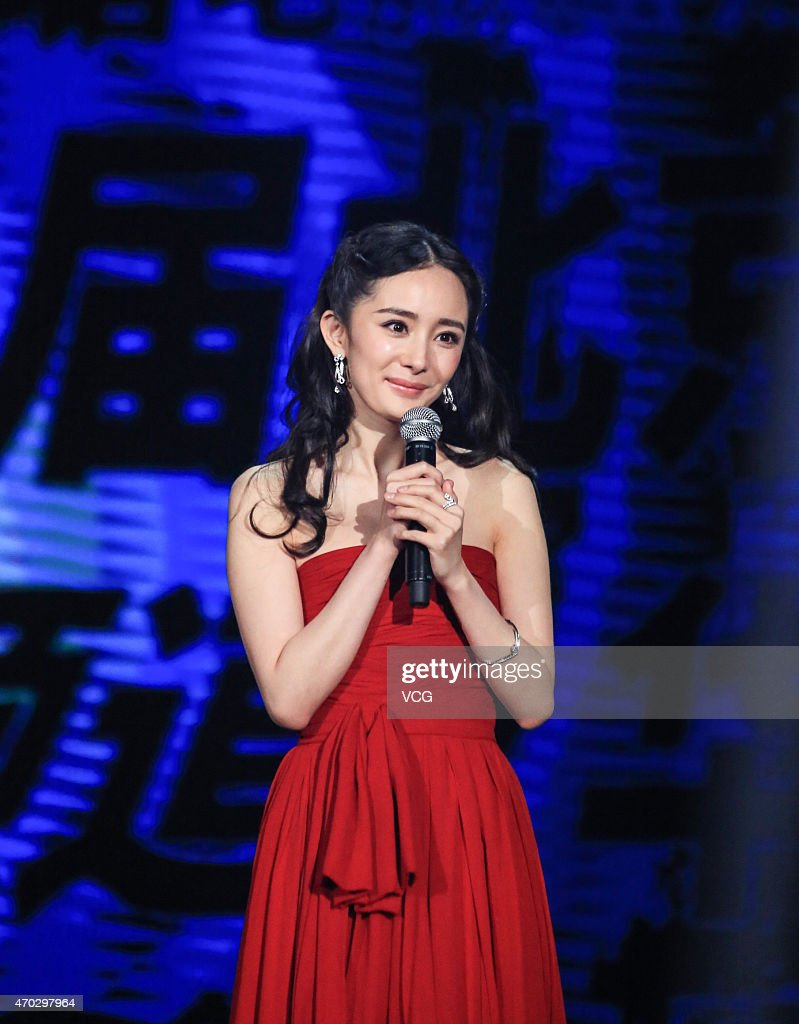 Actress Yang Mi attends the 5th Beijing International Film Festival on April 18, 2015 in Beijing, China.