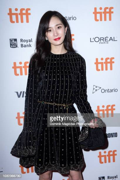 Actress Yang Mi attends the Baby red carpet premiere during the 2018 Toronto International Film Festival at Ryerson Theatre on September 12 2018 in...