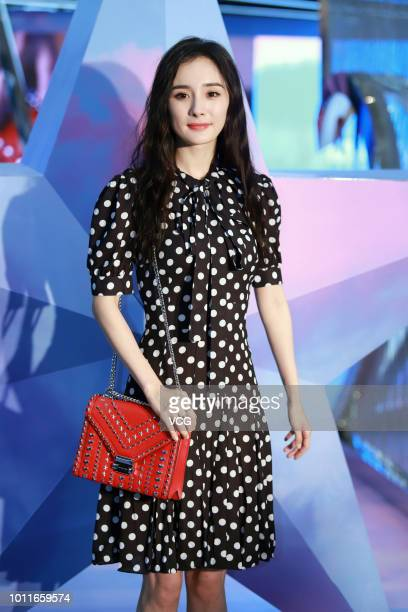 Actress Yang Mi attends the opening ceremony of Michael Kors Whitney popup store on August 1 2018 in Shanghai China
