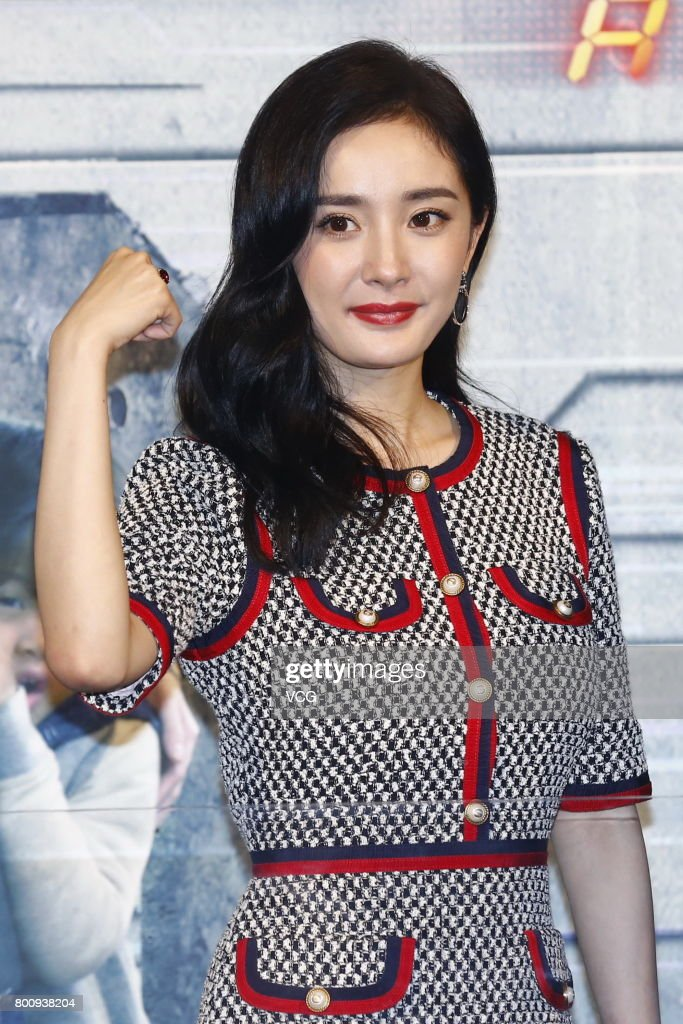 Actress Yang Mi attends the premiere of South Korean director Chang Yoon Hong-seung's film 'Reset' on June 25, 2017 in Beijing, China.