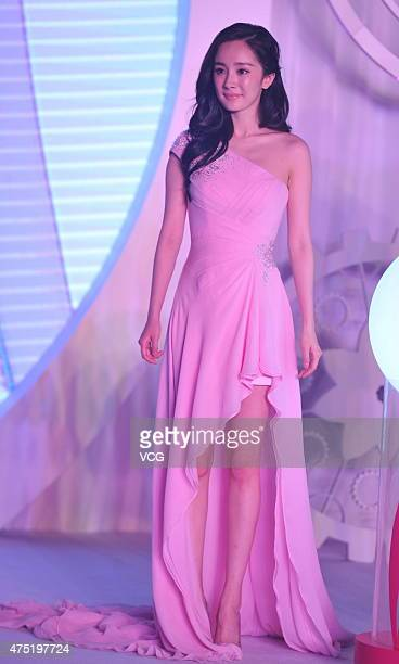 Actress Yang Mi attends Veet commercial activity on May 29 2015 in Beijing China
