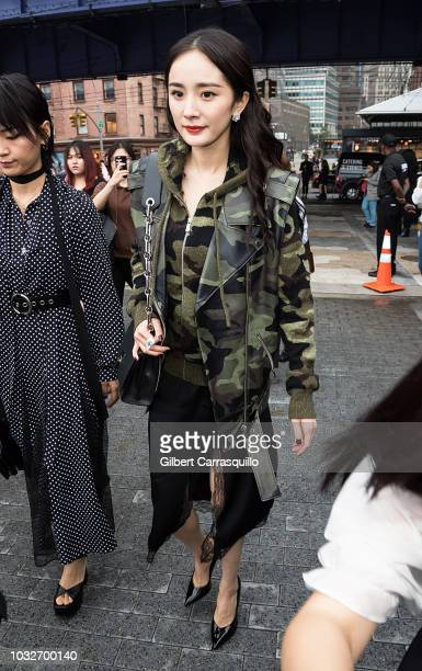 Actress Yang Mi is seen arriving to Michael Kors Collection SS19 fashion show during New York Fashion Week at Pier 17 on September 12 2018 in New...