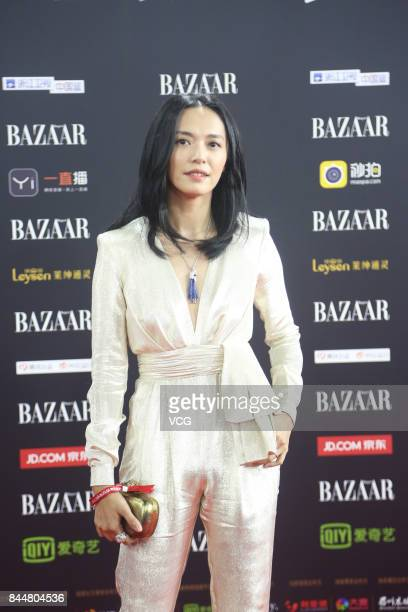 Actress Yao Chen arrives at the red carpet of 2017 Bazaar Star Charity Night on September 9 2017 in Beijing China