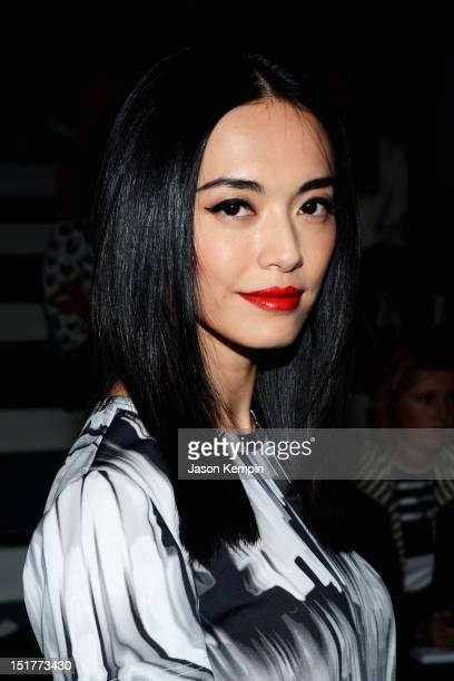 Actress Yao Chen attends the Vera Wang Runway Show during the Spring 2013 MercedesBenz Fashion Week at The Stage at Lincoln Center on September 11...