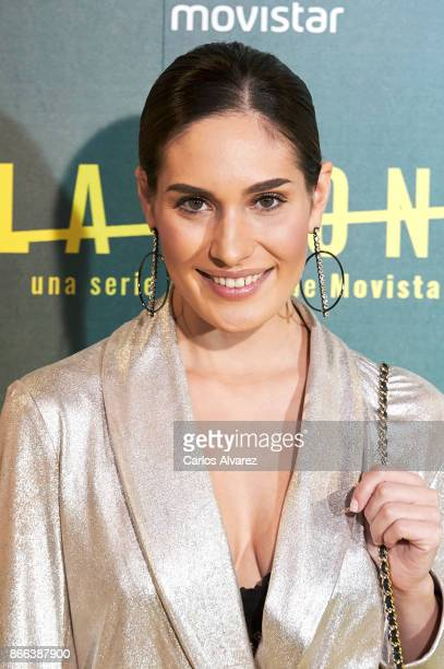 Actress Yara Puebla attends 'La Zona' premiere at the Capitol cinema on October 25 2017 in Madrid Spain