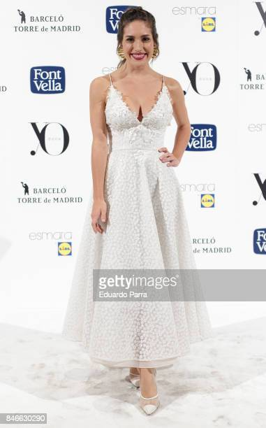 Actress Yara Puebla attends the 'Yo Dona MBFW opening party' photocall at Barcelo hotel on September 13 2017 in Madrid Spain